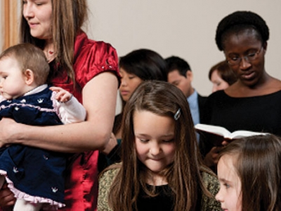 Engaging families in the church family image